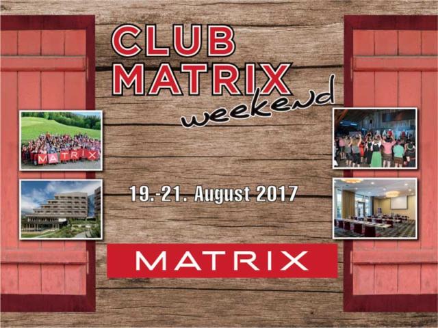 6. CLUB MATRIX WEEKEND